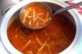 Terbiyeli Erişte Çorbası