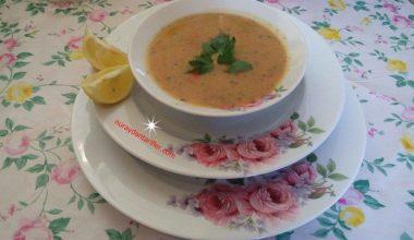 Sebzeli Süzme Mercimek Çorbası