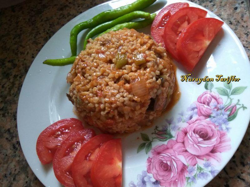Etli Patlıcanlı Bulgur Pilavı