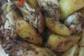 Fırında Patatesli Kanat