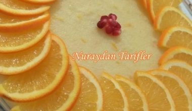 Sütlü Portakallı İrmik Tatlısı