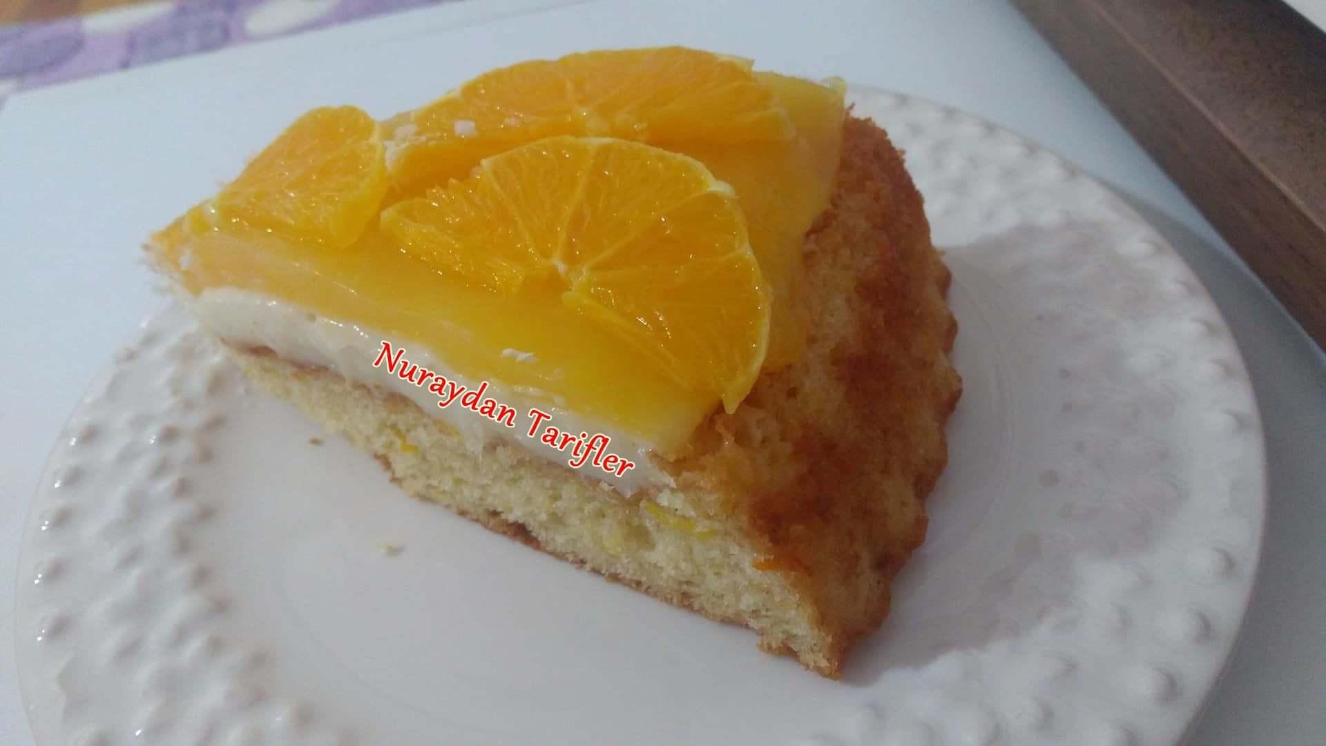 Portakallı Pamuk Prenses Pastası